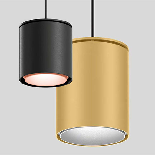 Luminaire suspension tube or ou noir XAL