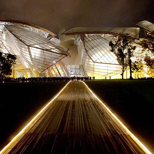 Référence Eclairage ATEA - Fondation louis Vuitton